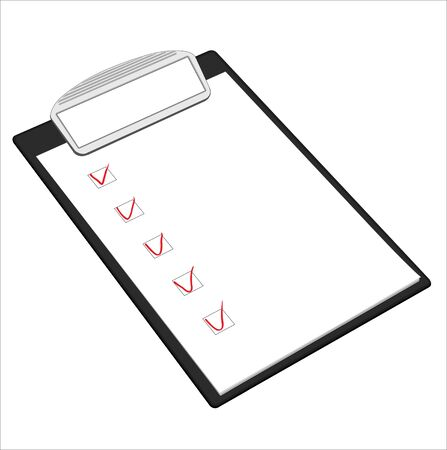 Clipboard and paper isolated, illustration Illustration