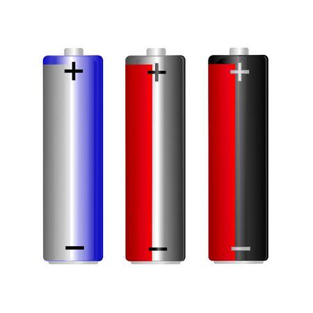 3 AA battery set, illustration