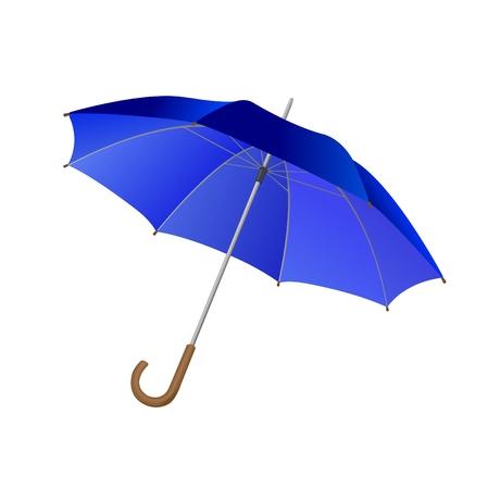 Blue umbrella, isolated, illustration Illustration