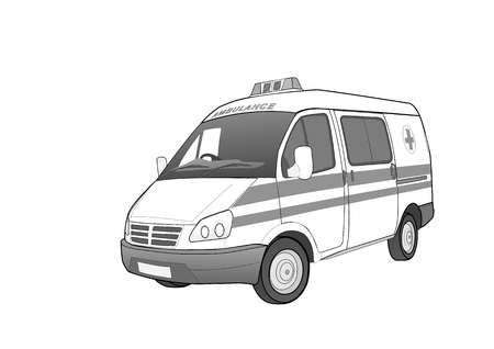 first aid car, illustration