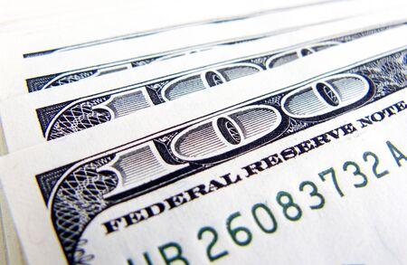 100 dollars notes macro, image