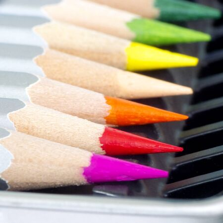 Color pencil set, image, macro
