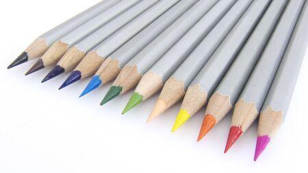 12 Color pencils set  , image, macro