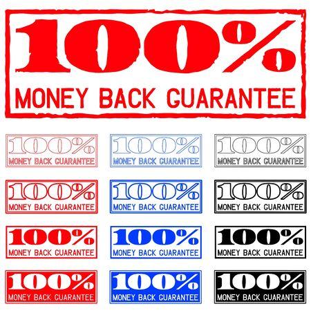 Money back guarantee print,  illustration