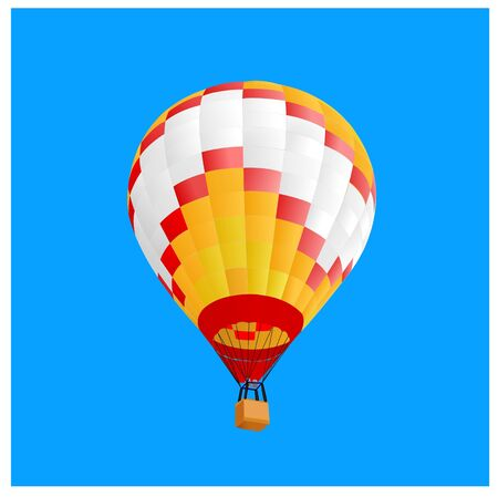 hot air ballon fly in blue sky Vector