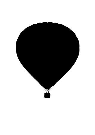 hot air ballon silhouette