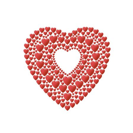 red hearts ornament