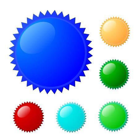 6 colorful label set for design