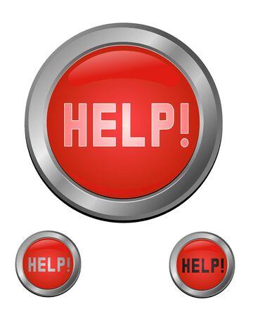 help button: help button set for design, vector illustration Illustration