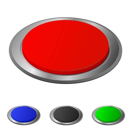 button set for design, vector illustration