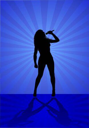 woman singer Illustration