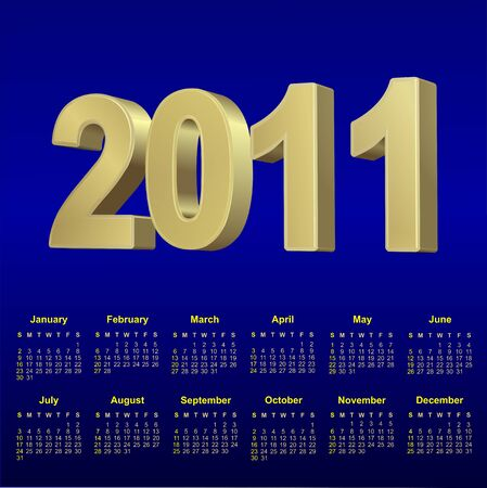 sucsess: 2011calendar  for design, horizontal