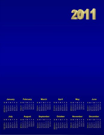 sucsess: 2011 blue calendar  for design