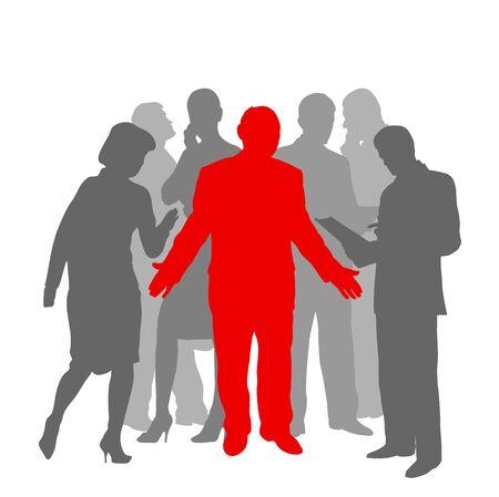 businessmen silhouettes Illustration