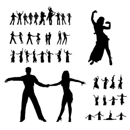 danser silhouettes Stock Vector - 8195808