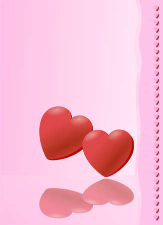 pink Valentine card, vector illustration Vector