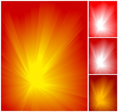 Abstract red ray background set for design, vector  illustration Vector