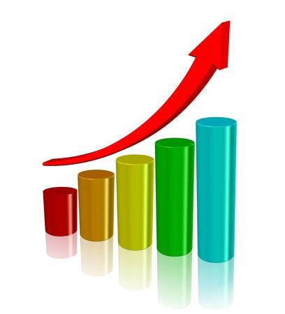 graficos de barras: Diagrama de color sobre el fondo blanco, ilustraci�n