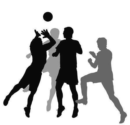 football silhouette: Football  players   Illustration