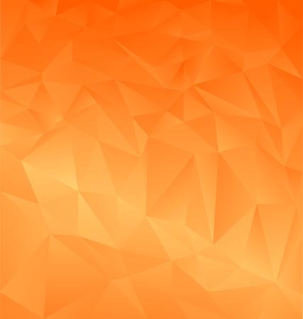 Orange abstract polygonal background Illustration