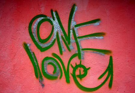 Graffiti street art. Urban culture abstract title. Stock Photo