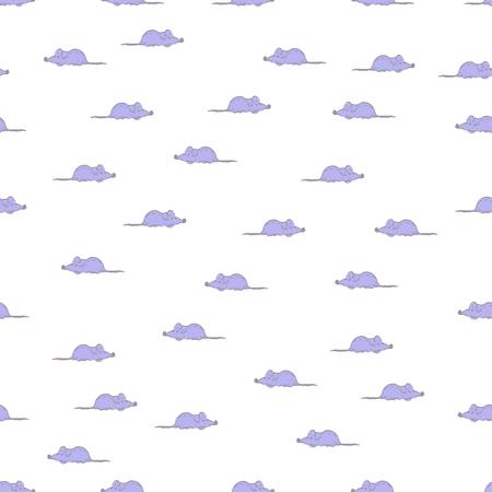 random: Seamless mice pattern. Random creeping mice in two direction.