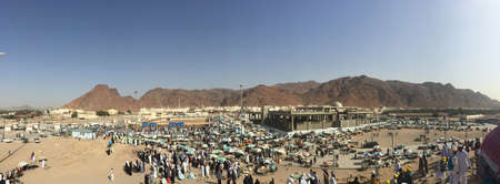 cuboid: Scenery of Jabal Uhud Stock Photo