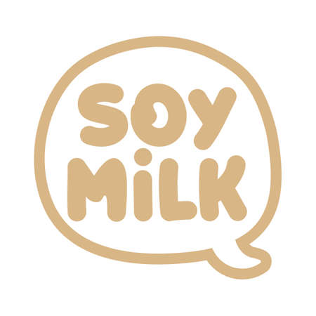 Soy Milk - label. vector elements for labels, logos, badges, stickers or icons. Vector illustration, healthy food packaginng design. Good for business company for eco, organic, bio theme.