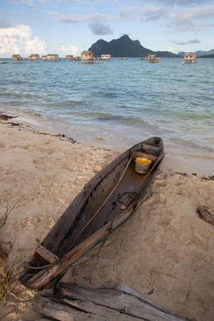 ashore: boat ashore Stock Photo