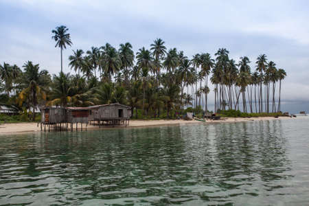 fishing village: fishing village on an island