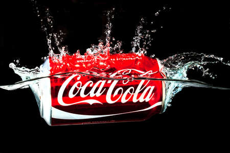 recognised: SABAH, MALAYSIA - JANUARY 17, 2015. The Coca-Cola can, which dates back to 1915, is the most recognised packaging in the world today. Editorial