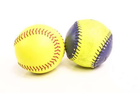 softball player: yellow ball for softball match