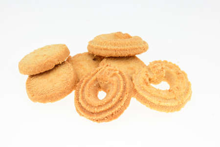 biscuits pile isolated on a white background