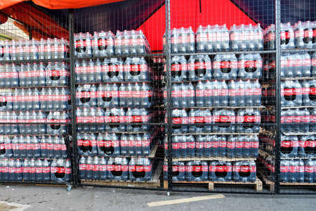 KUALA LUMPUR, MALAYSIA - AUGUST 1ST, 2016. Coca cola drinks.