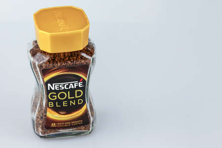 KUALA LUMPUR, MALAYSIA - AUGUST  1ST, 2016: Nescafe Gold Blend instant coffee. Editorial