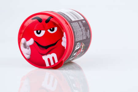 KUALA LUMPUR, MALAYSIA - MAY 5, 2016. M&Ms Chocolate candies, produced by Mars, Incorporated. M&Ms have been one of the most famous candy treats in the world since 1941.