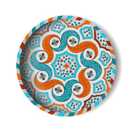 ceramic: Placa marroqu� de cer�mica