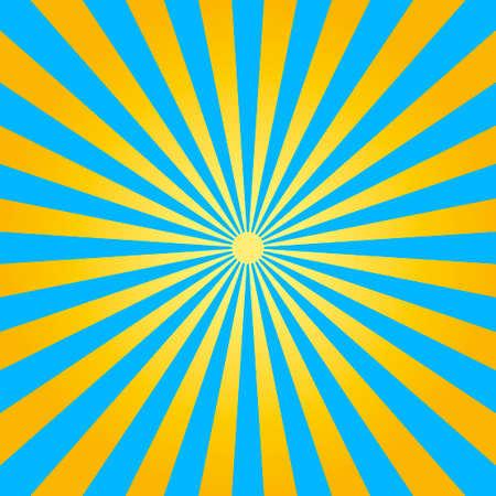 抽象的な黄色と青の光線の背景。ベクトル