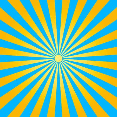 Abstract light yellow and blue rays background. Vector