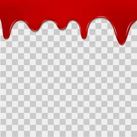 Dripping blood on transparent background. Vector. Illustration