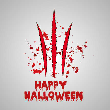 kampfhund: Halloween background with bloody claws. Vector background.
