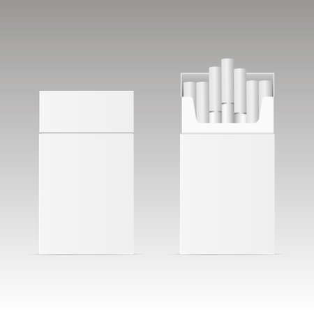 Blank package box of cigarette. Illustration