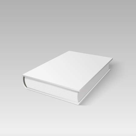 Blank cover book for your design. Illustration