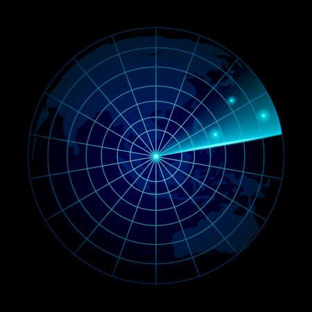 検索で現実的なベクトルのレーダー。 ItVector の目的を持つレーダー。  イラスト・ベクター素材