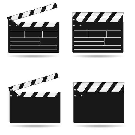 Cinema clapper icon.