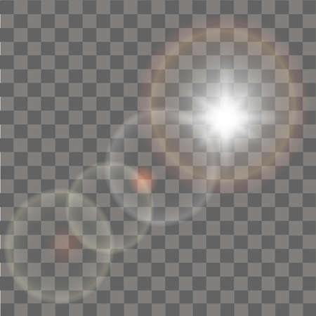Glow sun light effect abstract effect of lighting flare vector.