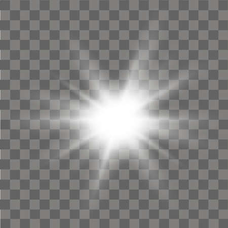 Glow light effect abstract effect of lighting flare vector. Vectores