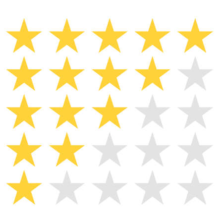 Star rating. Quality, feedback, experience, level concepts. Vector. Illustration