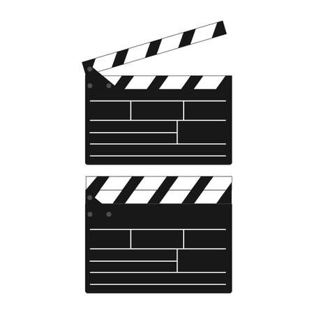 Opened and closed movie clap. Vector. Illustration