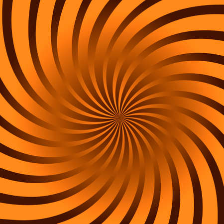 Abstract yellow spiral and gold background. Vector.
